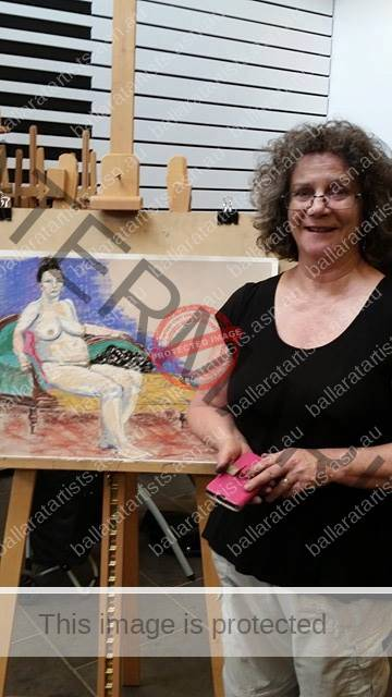 Member, Joan Tallent, enjoyed a life-drawing workshop at the Ballarat Art Gallery.