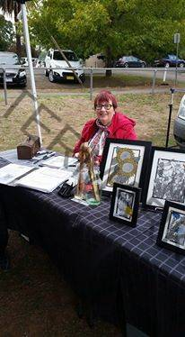 Susanne Graham at Castlemaine Artists Market in April.